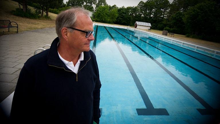 Jörgen Hallberg, ordförande i Svenska simsällskapets skåneavdelningen. Foto: Johan Pettersson/Sveriges Radio