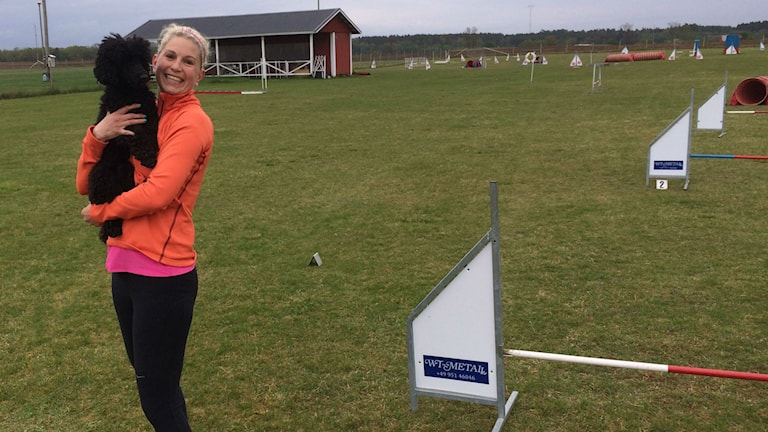 Emelie Moberg och Bigles har tränat ihop i ett års tid.