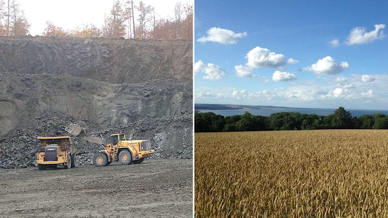 På Österlen finns planer på att öppna gruvor.