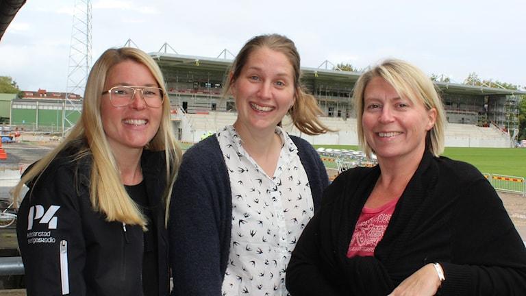 Jenny Johnsson-Roos, Malin Rimfors och Jenny Sandgren.