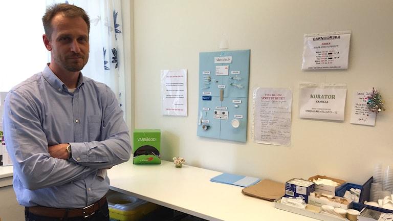 Mattias Waldeck, överläkare och medicinskt ansvarig för sprututbytet i Kristianstad.