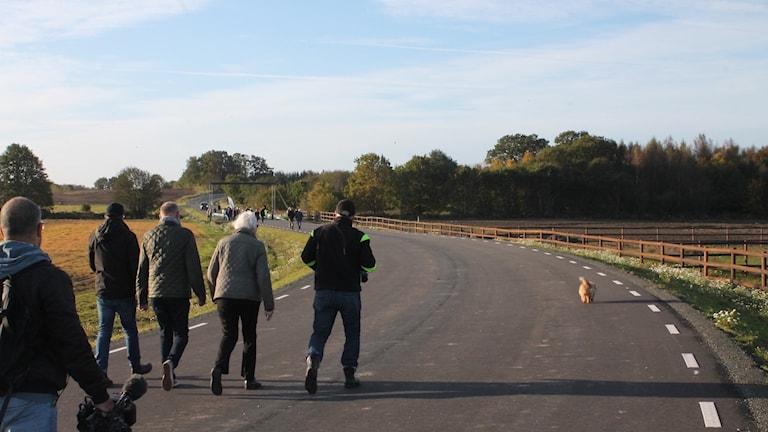 Idag öppnas den nya vägsträckan.