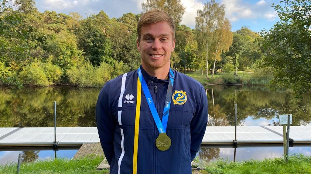 På bilden Martin Nathell som i helgen vann VM-guld i kanot