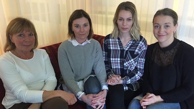 Birgitta Landin, Sunna Björk Björnsdóttir, Sigurbjörg Olofsdottir och Hrafnhildur Einarsdóttir