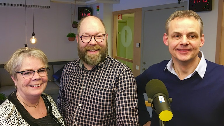 Birgitta Nebeling, Robert Axelsson och Ulf Bengtsson i Bokklubben.