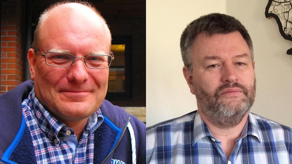 Leif Sandberg (C) och Stefan Larsson - f d kommunchef