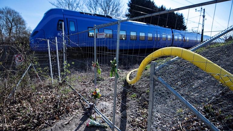 Tåg och staket