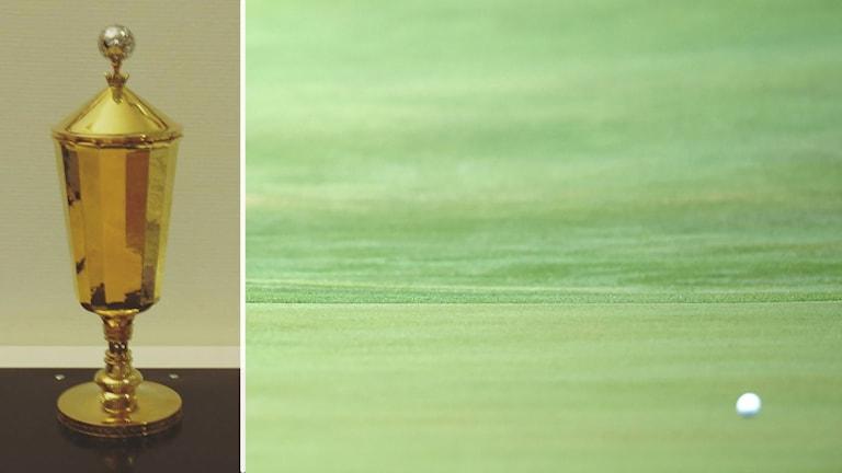 Pokal och golfboll