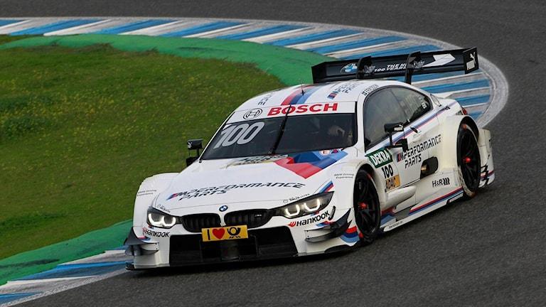 Joel Eriksson testkör för BMW i DTM-serien.