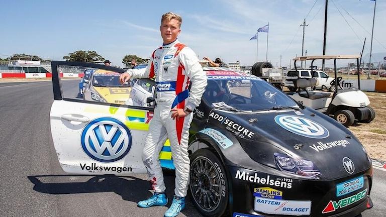 William Nilsson på rallycrosstävling i Kapstaden, Sydafrika.