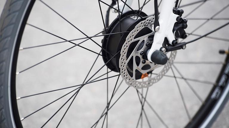 Hjulet på en elcykel.