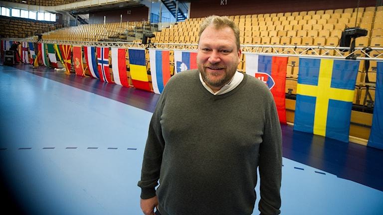 Micke Tellander, tävlingsmanager för matcherna som spelas i Kristianstad.