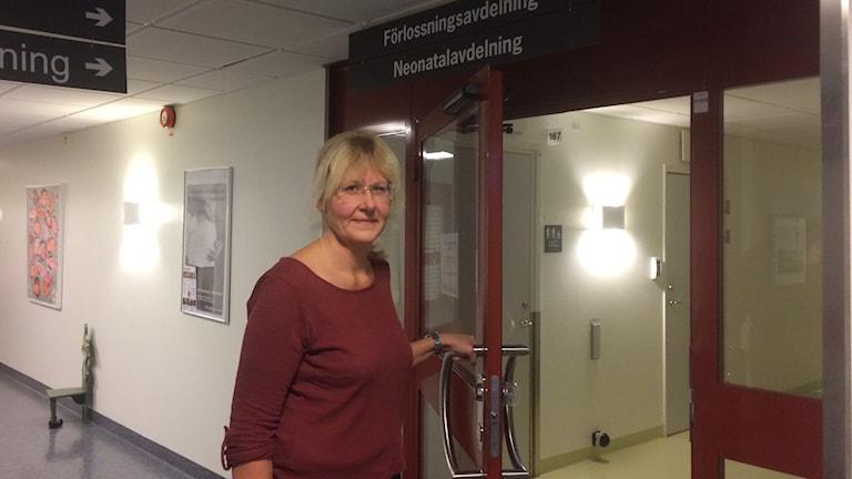 Barnmorskan Barbro Wikström på CSK.