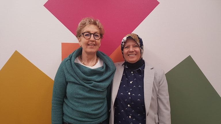 Lizette Meinking och Ghosoun Herou.