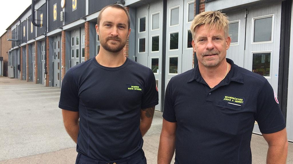 Martin Österberg och Jonas A Hemert vid räddningstjänsten i Höganäs är dykspecialister.