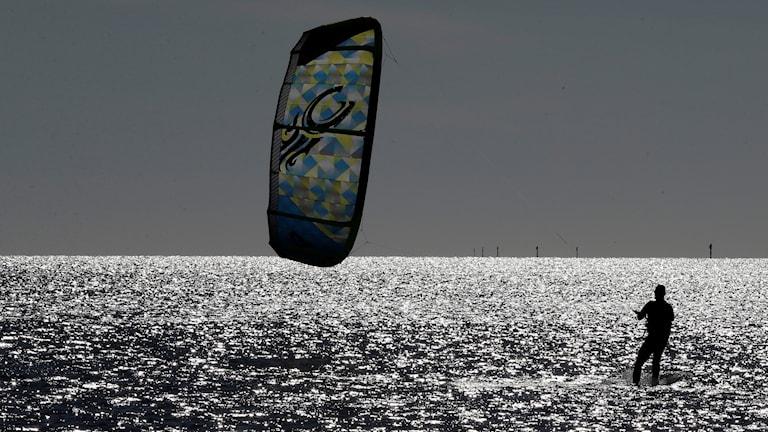 Genrebild. Kitesurfaren var inte i behov av sjukvård.
