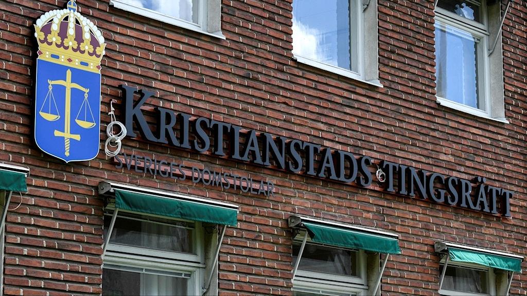 Bild på fasaden av Kristianstads tingsrätt