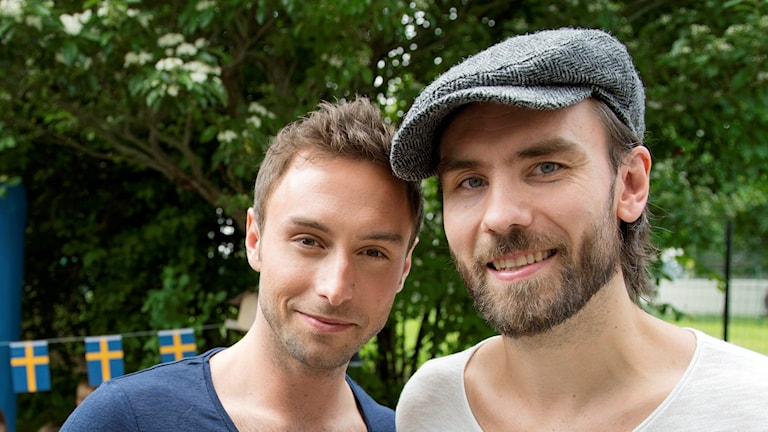 Måns Zelmerlöw och Alexander Holmgren.