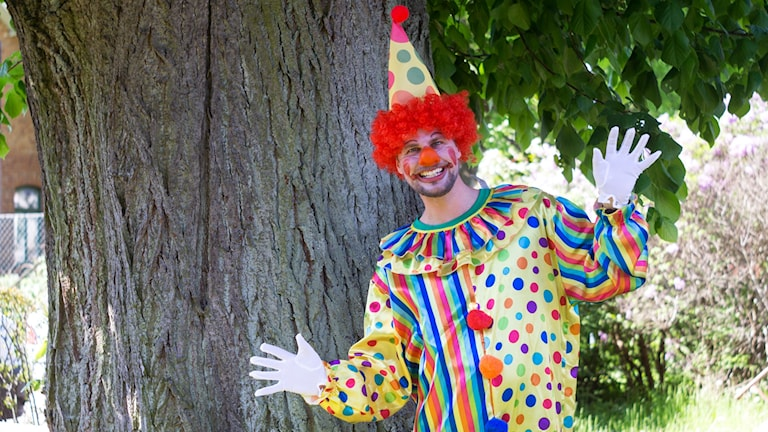 Robin Linghage, utklädd som clown