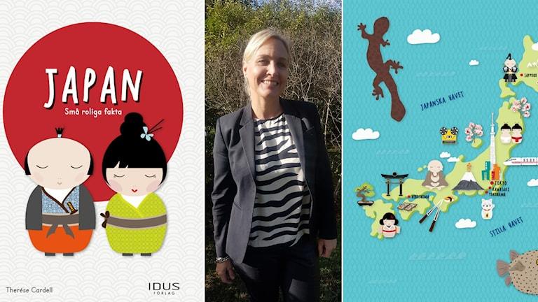 Kvinna och barnböcker.