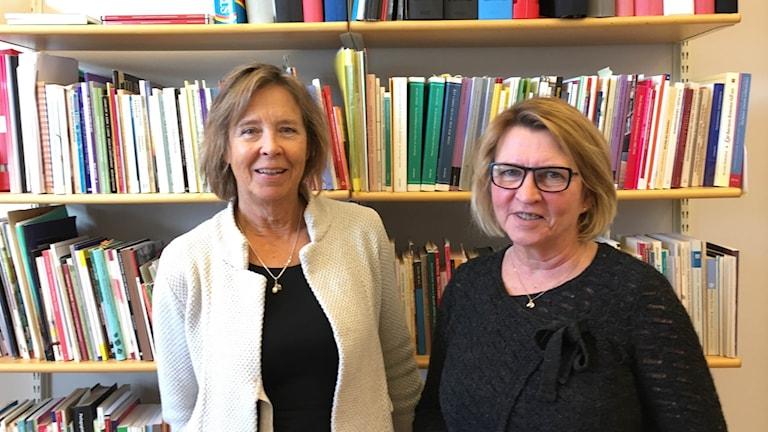 Susanne Thulin och Agneta Jonsson på Högskolan Kristianstad.