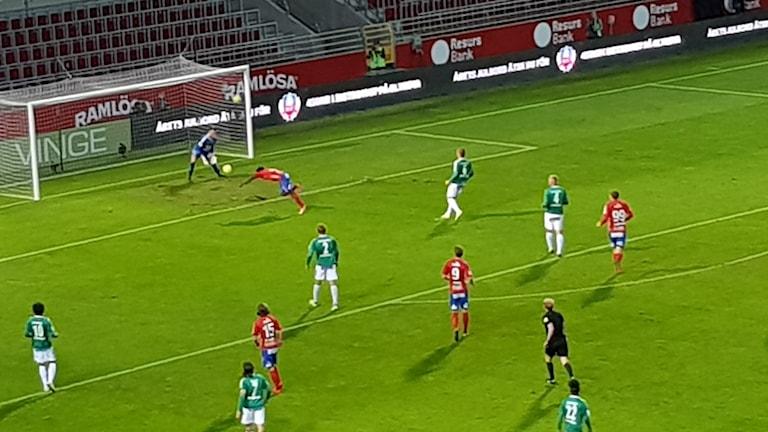Matchbild från HIF-IK Brage