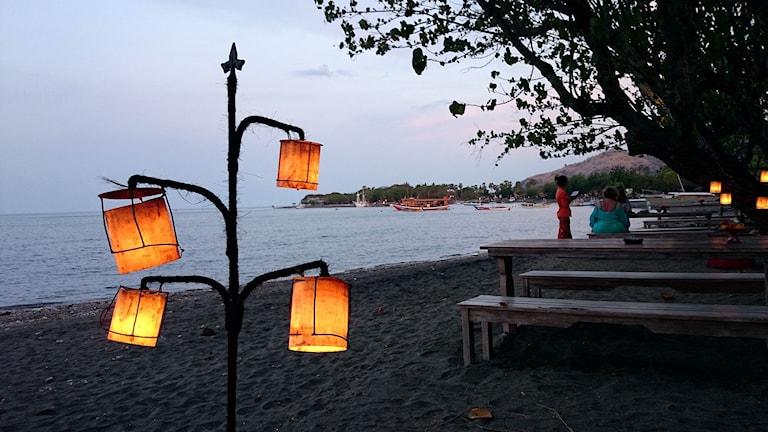 Stranden i Pemuteran på Bali