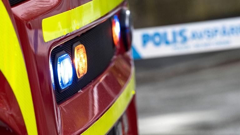 Rökdykare hittade den omkomna i villan där en kraftig brand rasade.