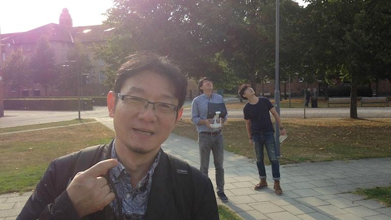 Det sydkoreanska tv-teamet är på plats på Högskolan i Kristianstad.