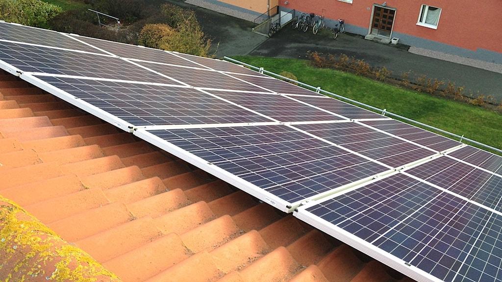 Bostadsrättsföreningen Boken i Kristianstad satsar på solceller.