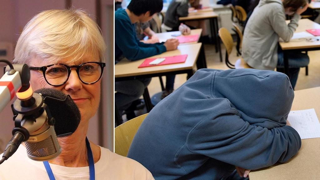 Marianne Ors och sovande elev
