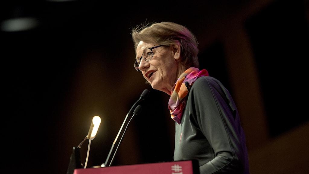 Gudrun Schyman, partiledare för Fi