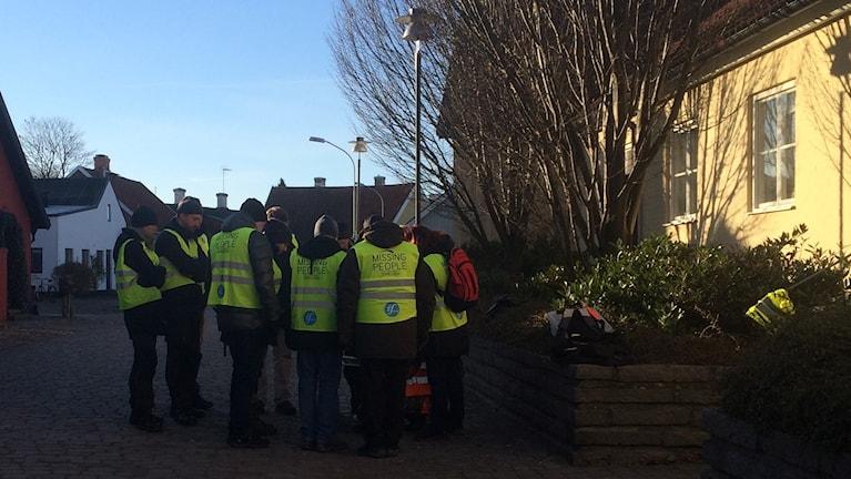 Missing people fortsatte leda frivilliga i sökandet i Åhus under tisdagen.