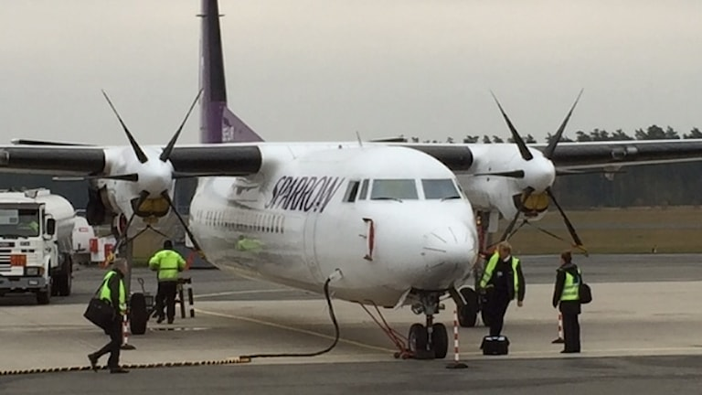 Flygunderhåll och personal på väg, Kristianstad-Österlen Airport