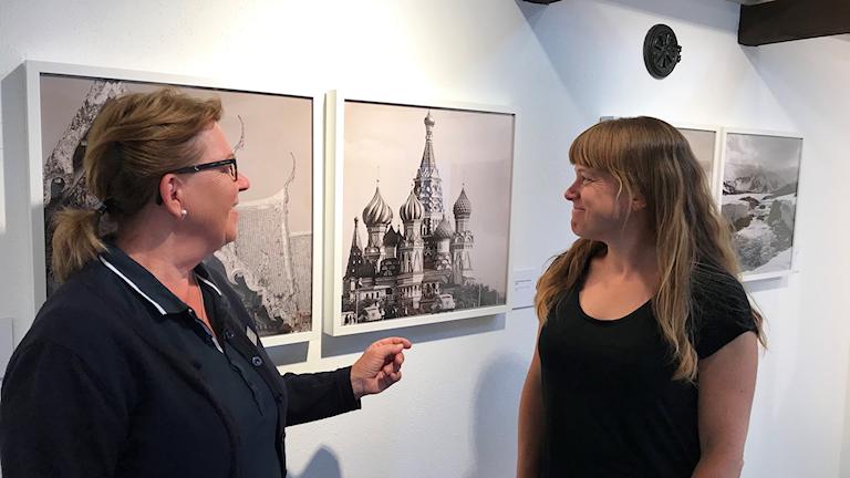 Karin Erlandsson, intendent och Sofie Bergkvist, utställningsproducent.