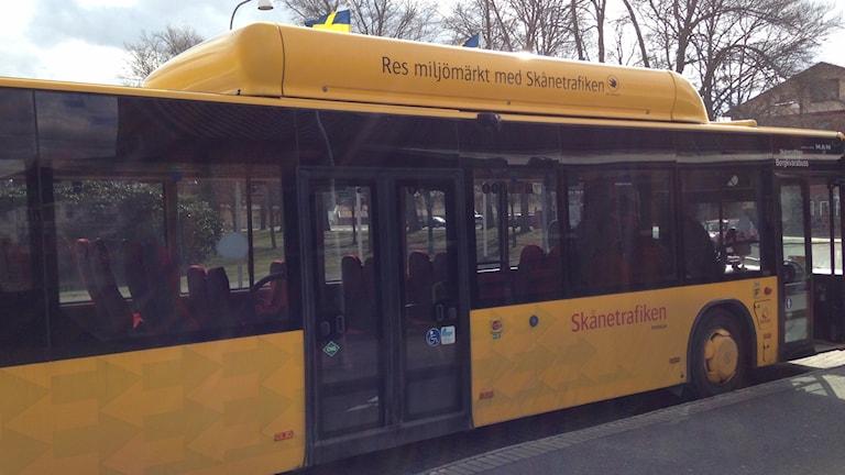 Gul Buss Skånetrafiken Osby
