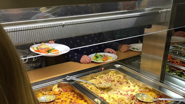 Lunchdags på Västerskolan i Hässleholm.
