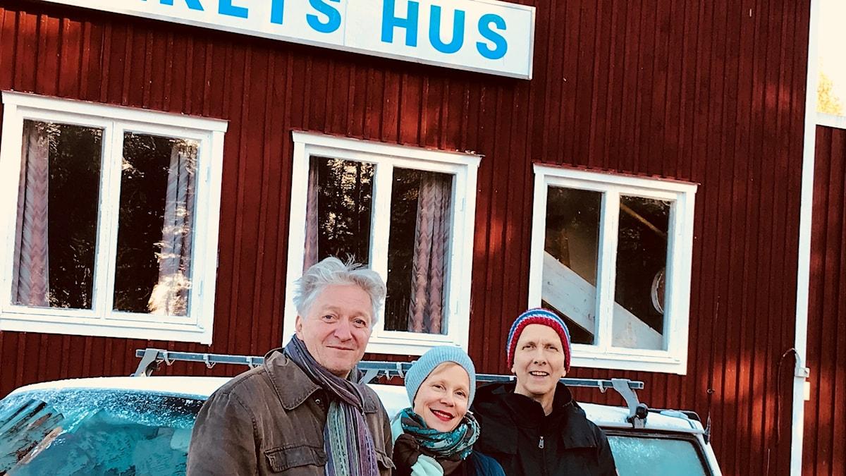 Jaakko Heikkilä, Titta Court och Erling Fredriksson.