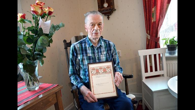 Axel Löpare, 100 år. Foto: Göran Lahti