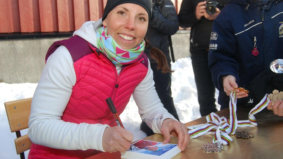 Så här glad var Kalla inte i Kuusamo. Foto. Stig Karlström