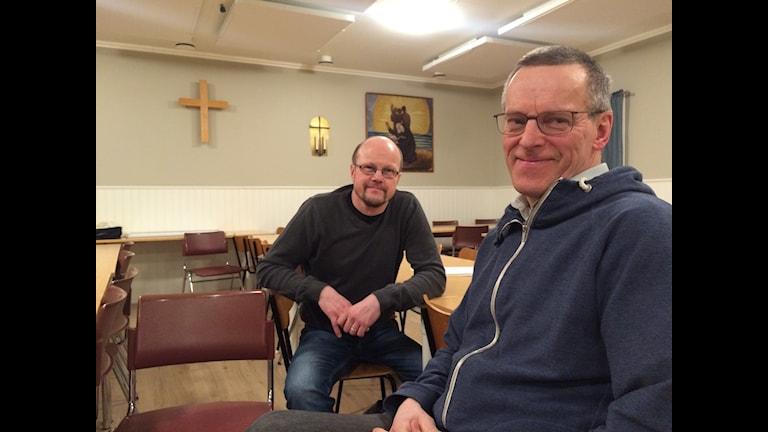 Harry Ylipää och Håkan Kero har fullt upp i påsk. Påsken är för de kristna årets viktigaste högtid.