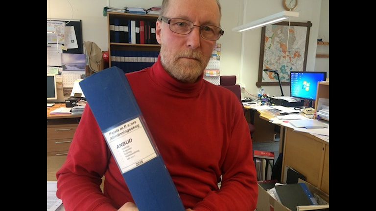 Sven Kangas, Pajala allmännningskog med anbuden till höstens älgjakt.