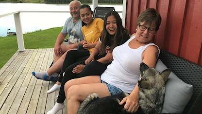 Anders ja Lena Henrikssonin perhe