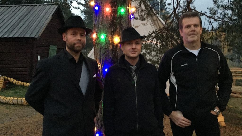 Jani Ruuskanen, Mertsi Lindberg och Jyrki Unhola, Bahaven Trin.
