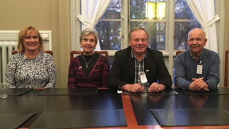 Christina Hedström, Rut Säfström-Niska, Bengt Niska, Henning Johansson.