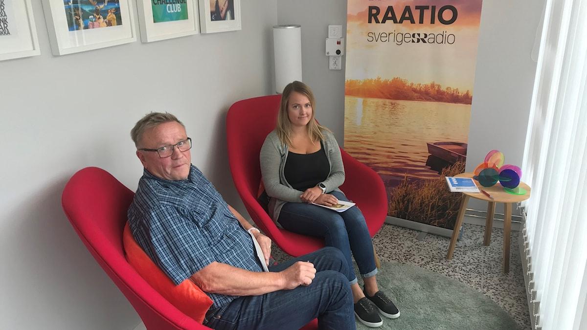 Politikerna Åke Fagervall (ns) och Camilla Mattila (s).
