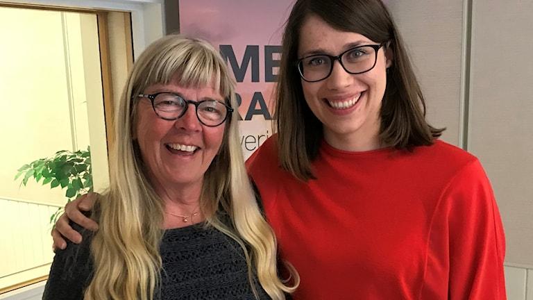 Språkvetarna Inga-Britt Uusitalo och Elina Kangas