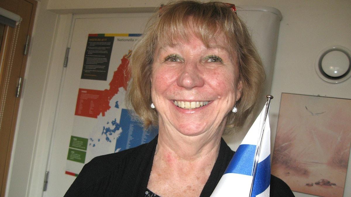 Boråsin kaupungin suomen kielen hallintoalueen toiminnan koordinoija Paula Wendell. Kuva: Teija Martinsson.