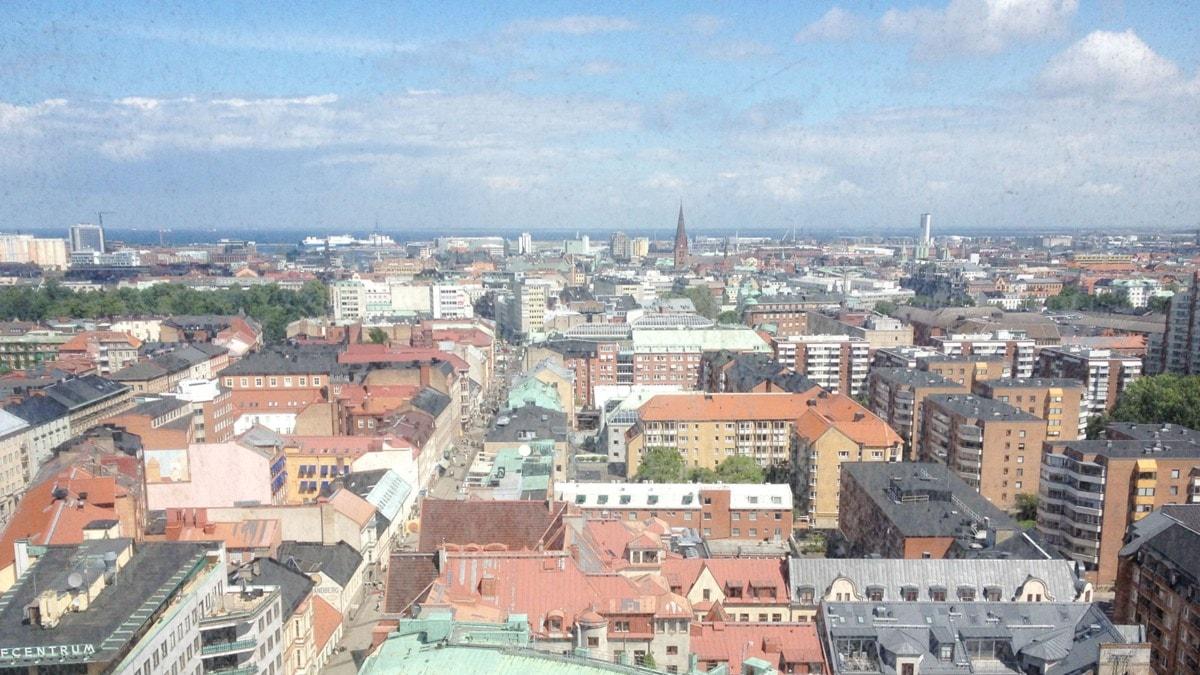 Malmö. Hotellihuoneen näköala. Foto: Anna-Lotta Hirvonen Nyström, SR Sisuradio.