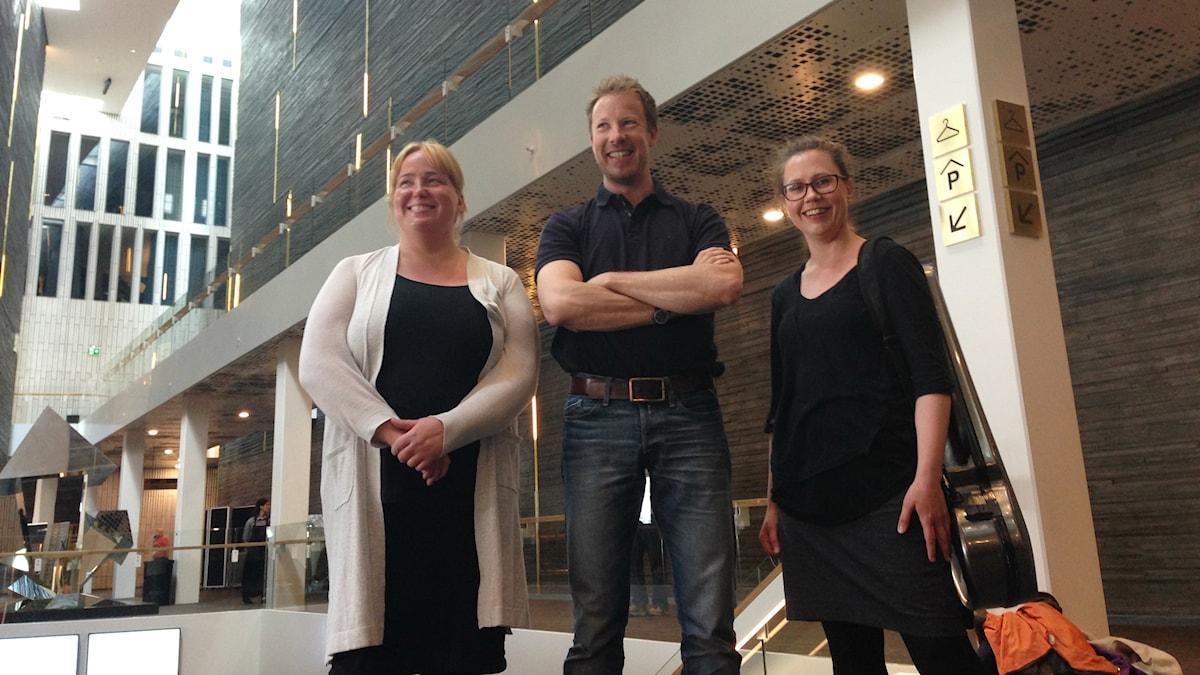 Marika Fältskog, Samuli Örnströmer, Elina Lehto, muusikoita Malmön sinfoniaorkesterissa.